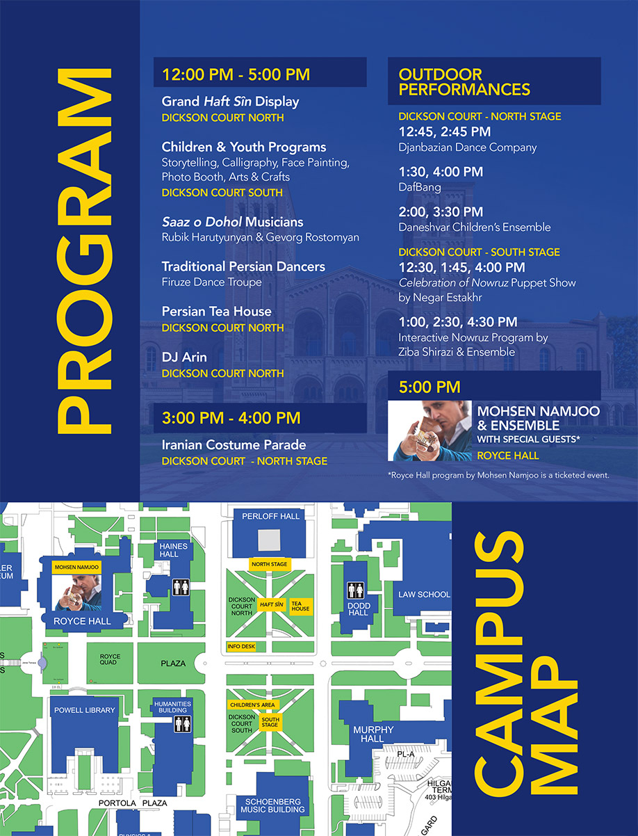 2017 Farhang Nowruz at UCLA Program and map